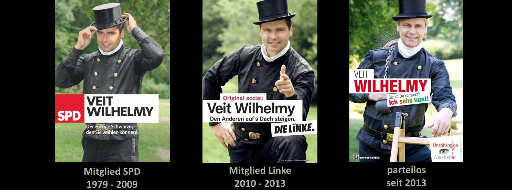 dreimal Veit Wilhelmy als Mitglied der SDP, Linken und parteiloser